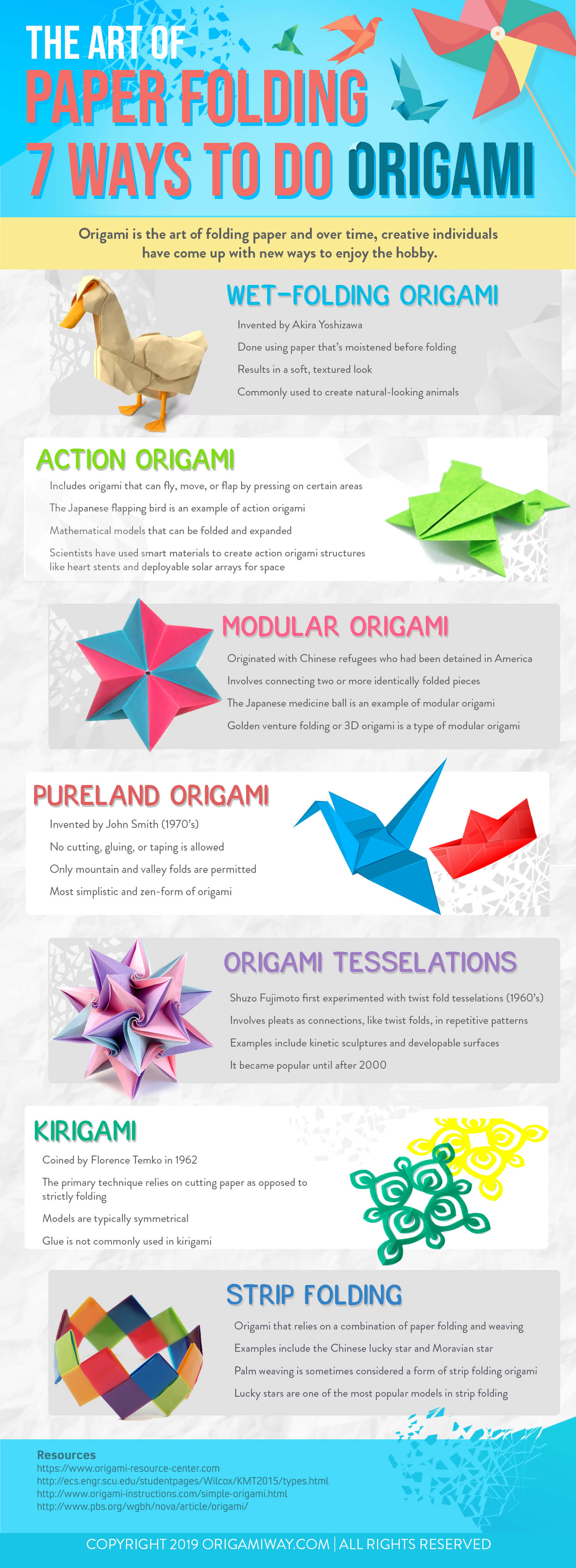 The Art of Paper Folding: 7 Ways to Do Origami Infographic