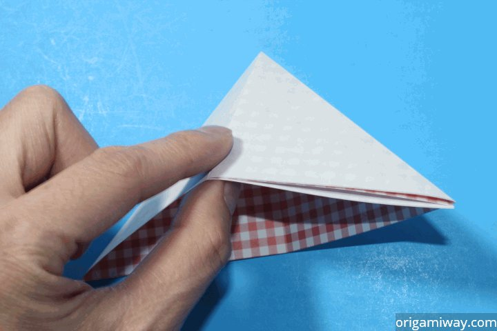 How to Make an Origami Basket Step 7-1