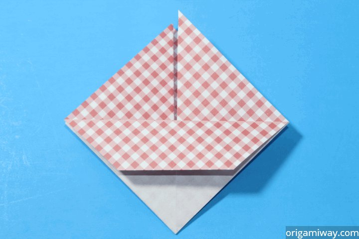 how to make an origami basket with handle