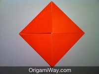 How to make an origami box step 4 fold all four corners to the center mightylinksfo