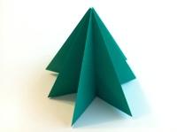 Origami Christmas.How To Make An Origami Christmas Tree
