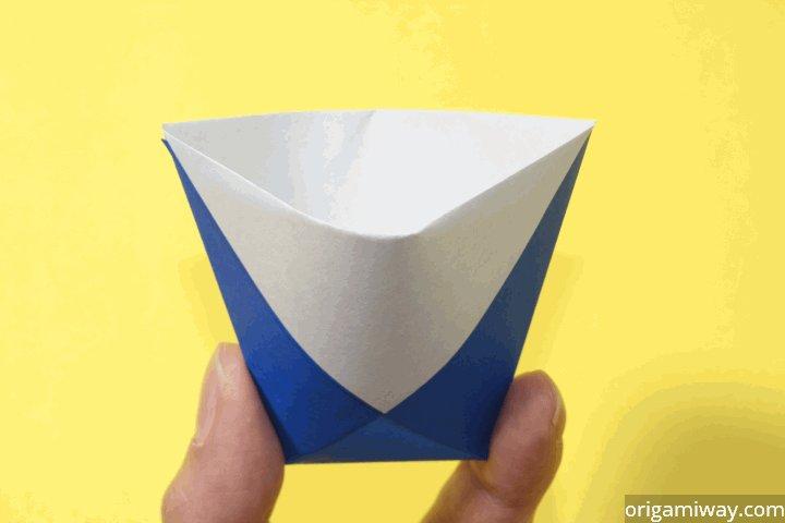 how to make an origami cup instructions