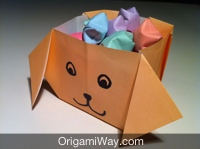 Origami Dog for Kids - Paper Dog Making Tutorial (Very Easy) - YouTube | 149x200