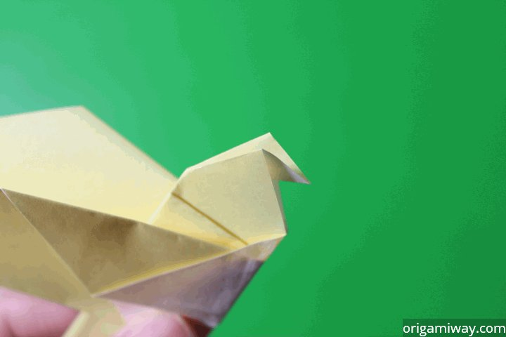 How To Make A Paper Bird Easy Origami Paper Bird Instructions