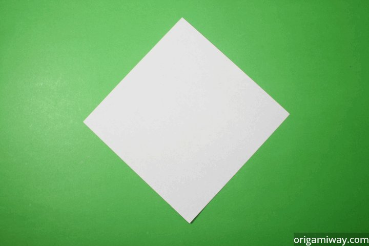Step 1 Start With A Square Piece Of Origami Paper If You Only Have Regular 85x11 Follow These Instructions To Make Sheet
