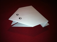 Easy Origami Paper Frog That Jumps Instructions
