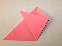 Easy origami flower for kids step 5 fold the right side to the left like so mightylinksfo Choice Image