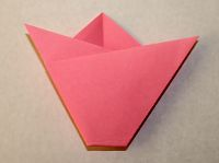 Easy Origami Tulip Step 7