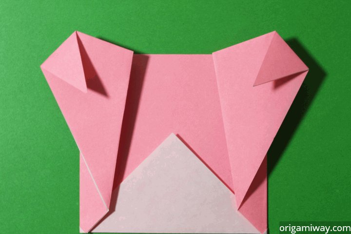 Easy Origami Teddy Bear Step 9