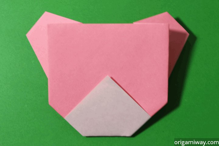Easy Origami Teddy Bear Step 11
