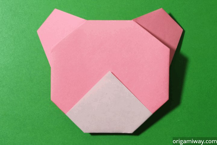 Easy Origami Teddy Bear Step 12