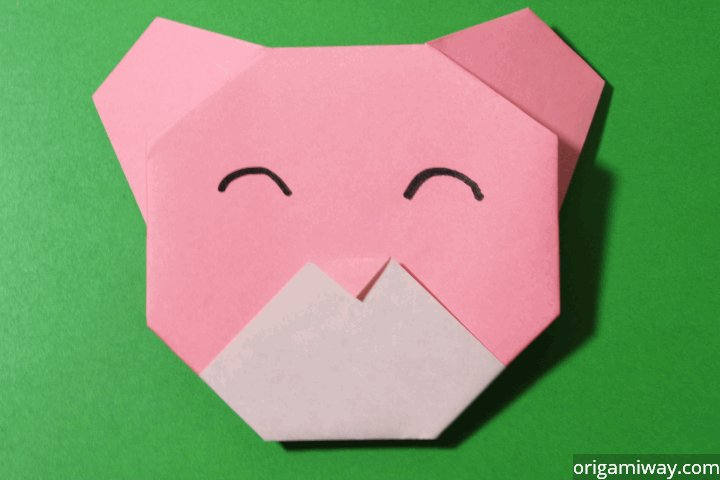 Easy Origami Teddy Bear Step 13