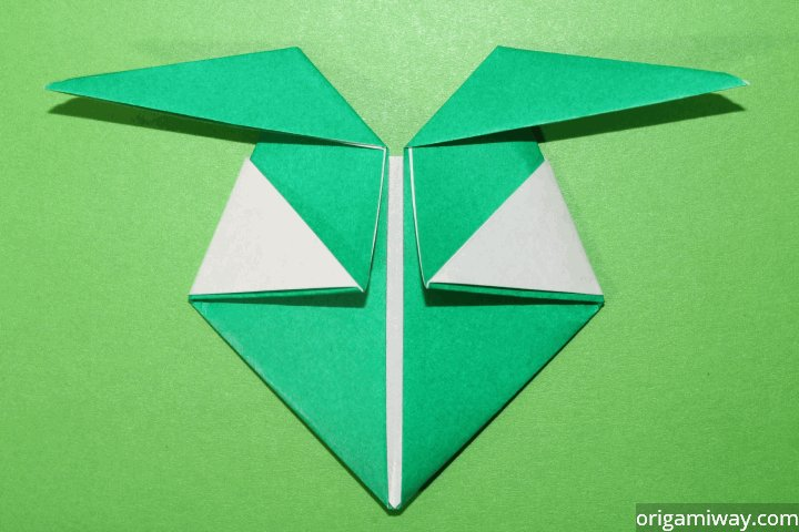 easy paper origami elf step by step instructions