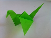 Flapping Bird: Animated Origami Instructions: How to make Origami | 149x200