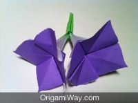 Origami flower stem instructions and diagram origami flower stem mightylinksfo