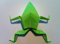 How To Make An Origami Jumping Frog - Folding Instructions ... | 149x200