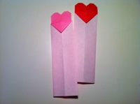 Heart Bookmarks Even Origami Beginners Can Make | 149x200