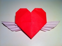 Origami Heart with Wings