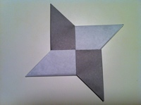 Origami Ninja Star Instructions Page 3