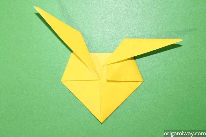 Easy Origami Paper Pikachu Tutorial