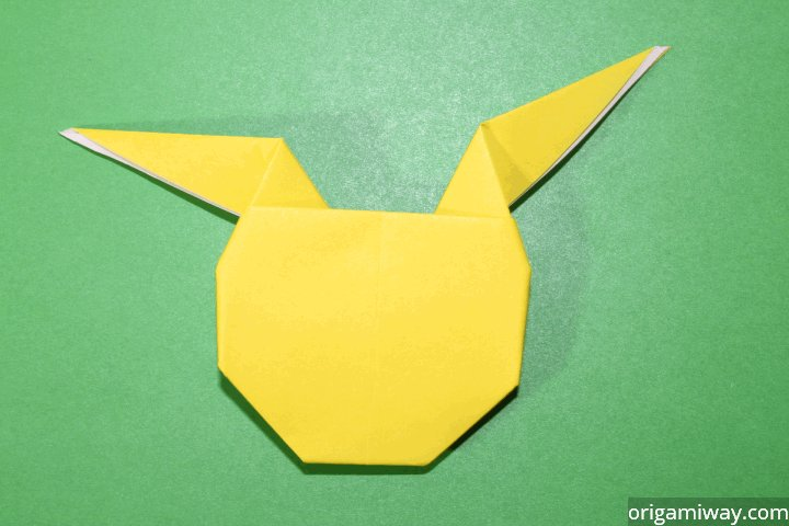 Step 11 Turn The Pikachu Over And Draw Face Pika