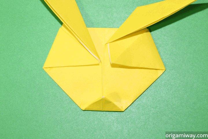 Step 9 Fold The Bottom Corner Up To Flatten Origami Pokemons Chin
