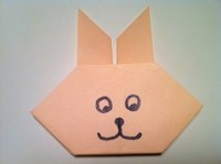 Origami Bunny Tutorial With Printable Template - Easy Peasy and Fun | 149x200