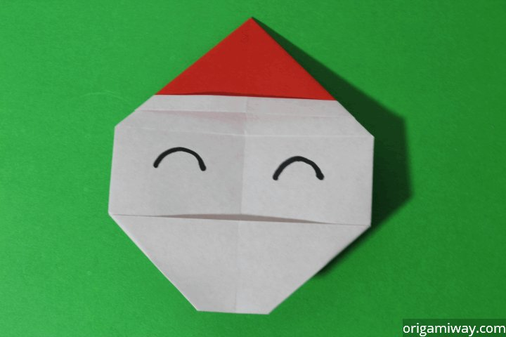 how to make paper santa claus easy origami santa claus