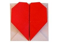 Origami Secret Heart Message Instructions