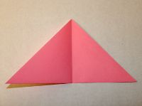 This is how to make a simple origami flower simple origami flower step 4 mightylinksfo