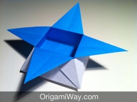 How to make a Paper Box for Kids - Origami Star Box tutorial - YouTube | 149x200