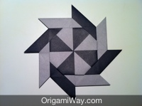 3D Origami Transforming Ninja Star. (Instructions) (Ray Bolt ... | 149x200