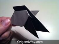 origami transforming ninja star instructions